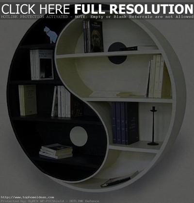 Percantik Ruangan Dengan Desain Rak Buku yang Unik
