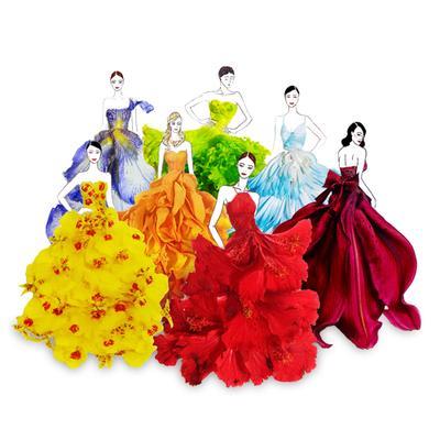 Desain Gaun dari Kelopak Bunga Sungguhan