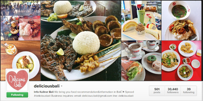 Akun @deliciousbali