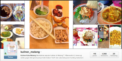 Akun @kuliner_malang
