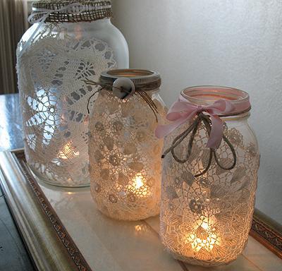 Lilin Dalam Toples Selimut Rajut