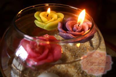 Lilin Mawar Apung