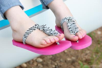 10. Ruffled T-Strap Flip Flops