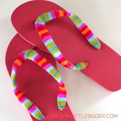 13. Yarn Flip Flops