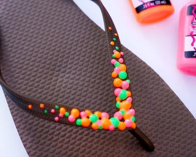 15. Neon Flip Flops