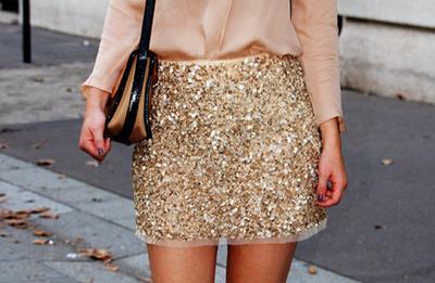 Rok atau Celana Glitter
