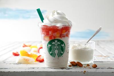 2. Fruits on Top Yoghurt Frappuccino with Crushed Nuts