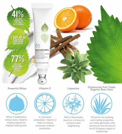 Moisture White Shiso 2 in 1 Brightening Eye Cream