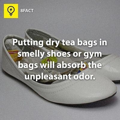 Hilangkan Bau Sepatu dengan Teh Kantong