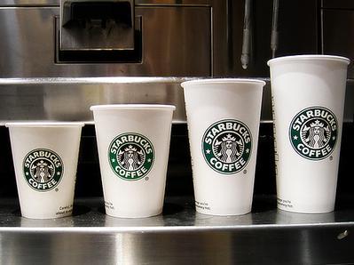 2. Ketahui variasi ukuran minuman di Starbucks