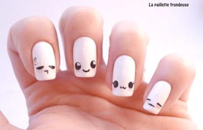 Percantik Kuku dengan Nail Art ala Kaomoji