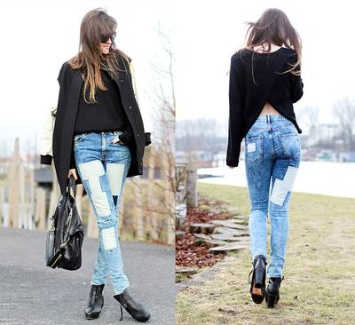 Full Patchwork Jeans