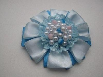 8. DIY Satin Ribbon Brooch Flower