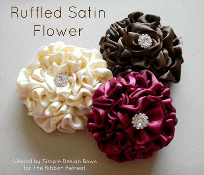 7. Ruffled Satin Flower