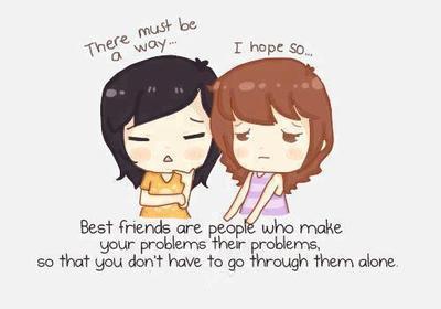 Sahabat merupakan penasihat pribadi yang dapat membantu memecahkan segala masalah