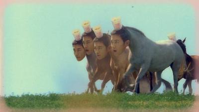 Takeru Sato Tetap Tampan Meski Berakting Jadi Kuda
