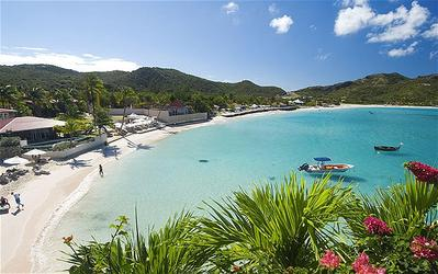 Pantai St Bart, Kepulauan Karibia