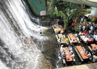 8. Labassin Waterfall Restaurant