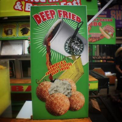 """America's Favorite Coffee Deep Fried!"""