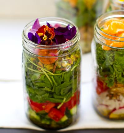 Flower Salad in Jar