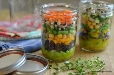 Layered 7-Bean Salad