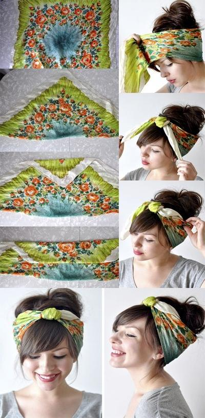 Vintage Simple Headscarf Style