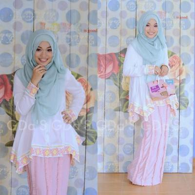 Inspirasi Outfit Hijab Pastel ala Ghaida Tsurayya