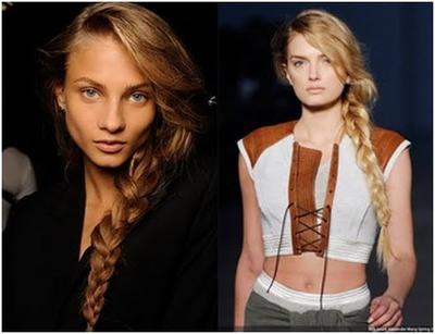 Model Kepang French Braids