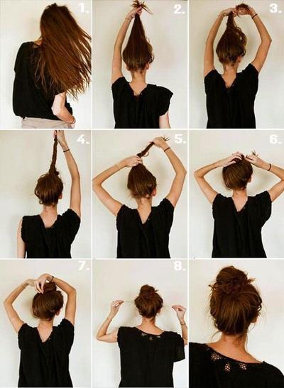 Messy Hair Bun Style