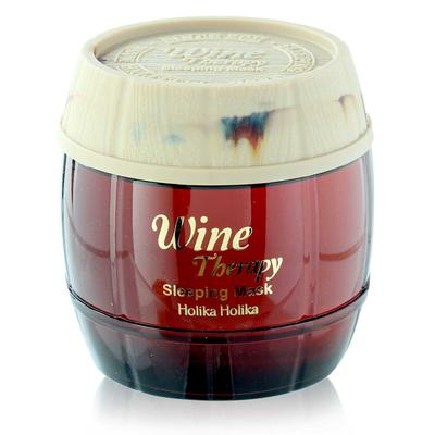 1. Holika Wine Therapy Sleeping Pack
