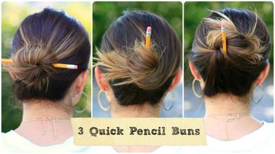 4. Pencil Bun