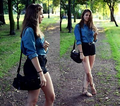 4. Denim Shirt With Short Pants