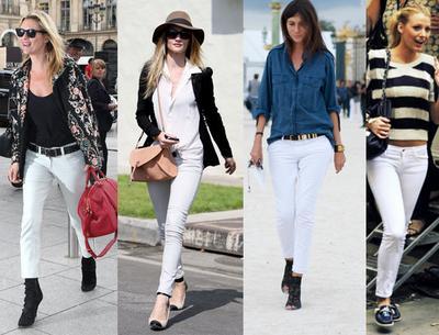 Tampak Langsing Dengan Celana Denim Putih
