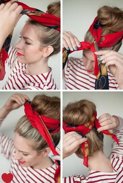 2. Gunakan Sebagai Aksen di Kepala