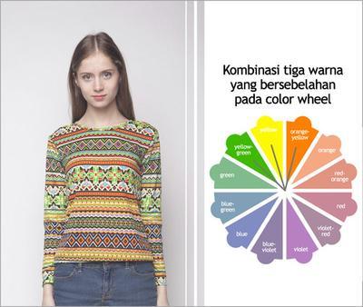 1. Kombinasikan Tiga Warna yang Bersebelahan (Analogus)