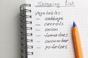 Membuat Daftar Belanja Berdasarkan Rencana