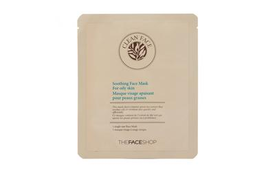 4. The Face Shop Mask Sheet Clean Face Sebum Control Soothing Mask Sheet