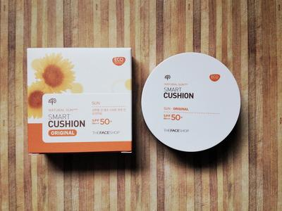5. The Face Shop Natural Sun Eco Cushion Sun Cover