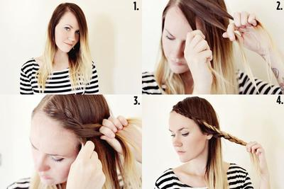 1. Braided Bangs