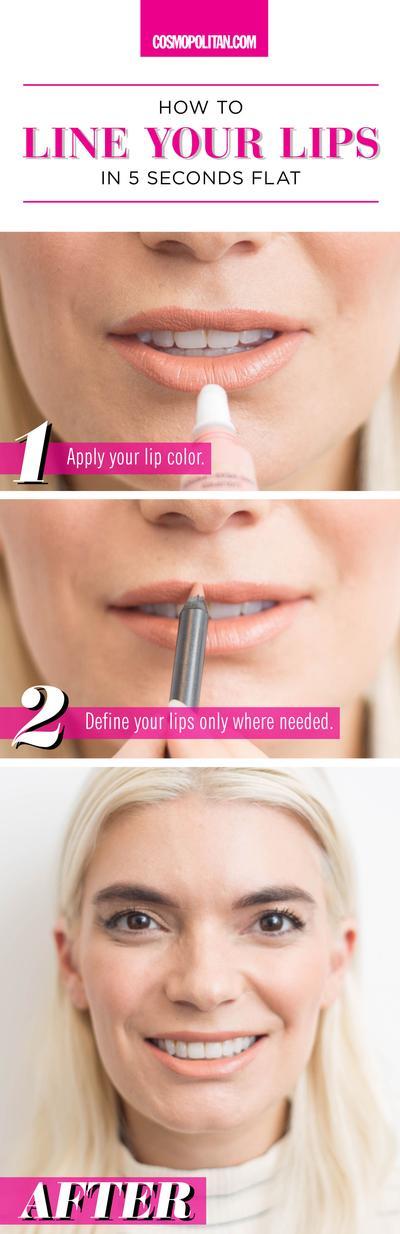 Memakai Lip Liner Setelah Lipstik