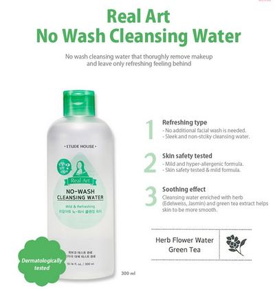 Etude House Real Art No-Wash Cleansing Water