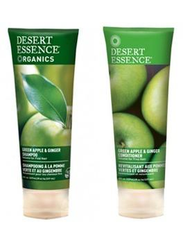 8. Desert Essence Organics Hair Care Green Apple & Ginger Shampoo and Conditioner