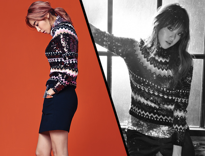 Pilih Mana: Uee After School & Lee Sung Kyung Dengan Sweater Dior