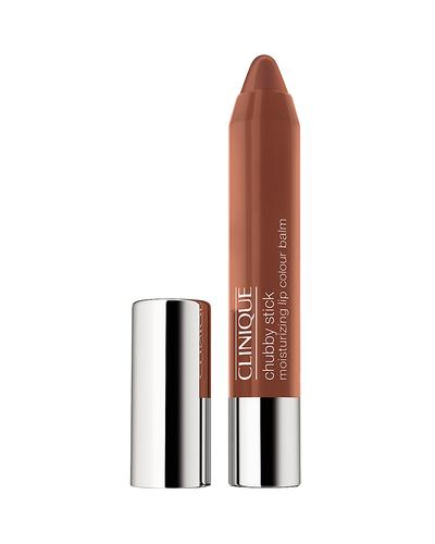 2. Clinique Chubby Stick Moisturizing Lip Colour Balm Heaping Hazelnut
