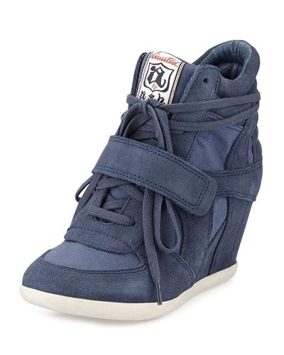 Bowie Suede Wedge Sneaker from Neiman Marcus lastcall