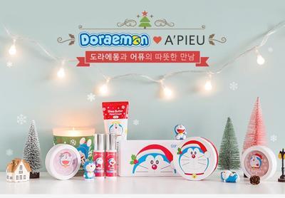 Review: A'pieu X Doraemon 2015 Makeup Korea Edisi Spesial Natal