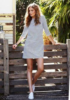 1. Striped Dress