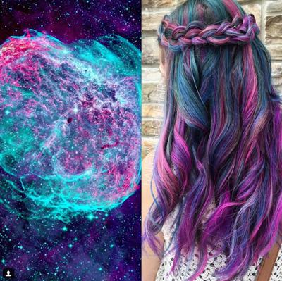 3. Galaxy Hair