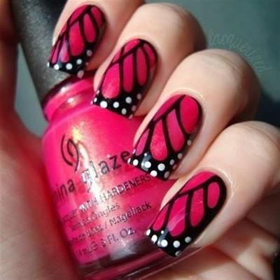 Manisnya Nail Art Bernuansa Merah Muda
