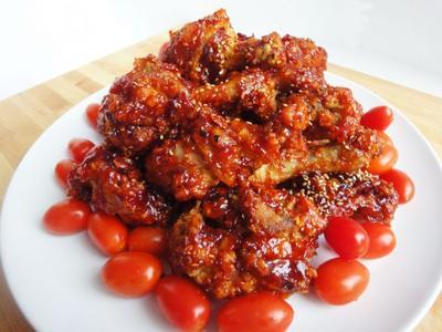 Resep: Yangnyeom Tondak, Ayam Goreng Bumbu Pedas